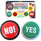 """Global Gizmos 50320 """"Battery Operated Yes and No Buttons Seven Different Ways to Say"""" Toy"""