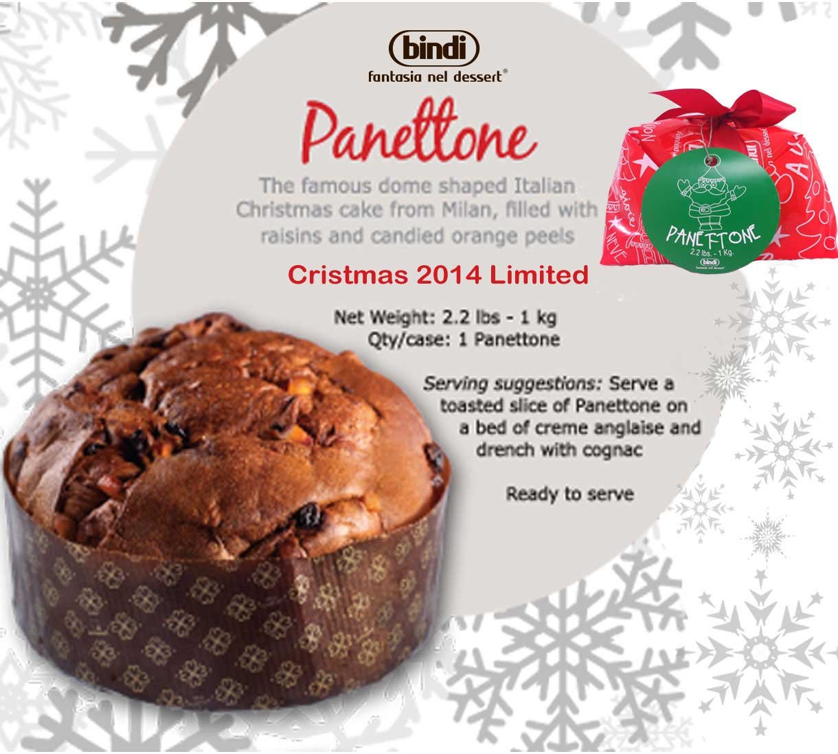 Bindi Panettone Christmas 2014 - Limited Availability - 2.2 Pounds ...
