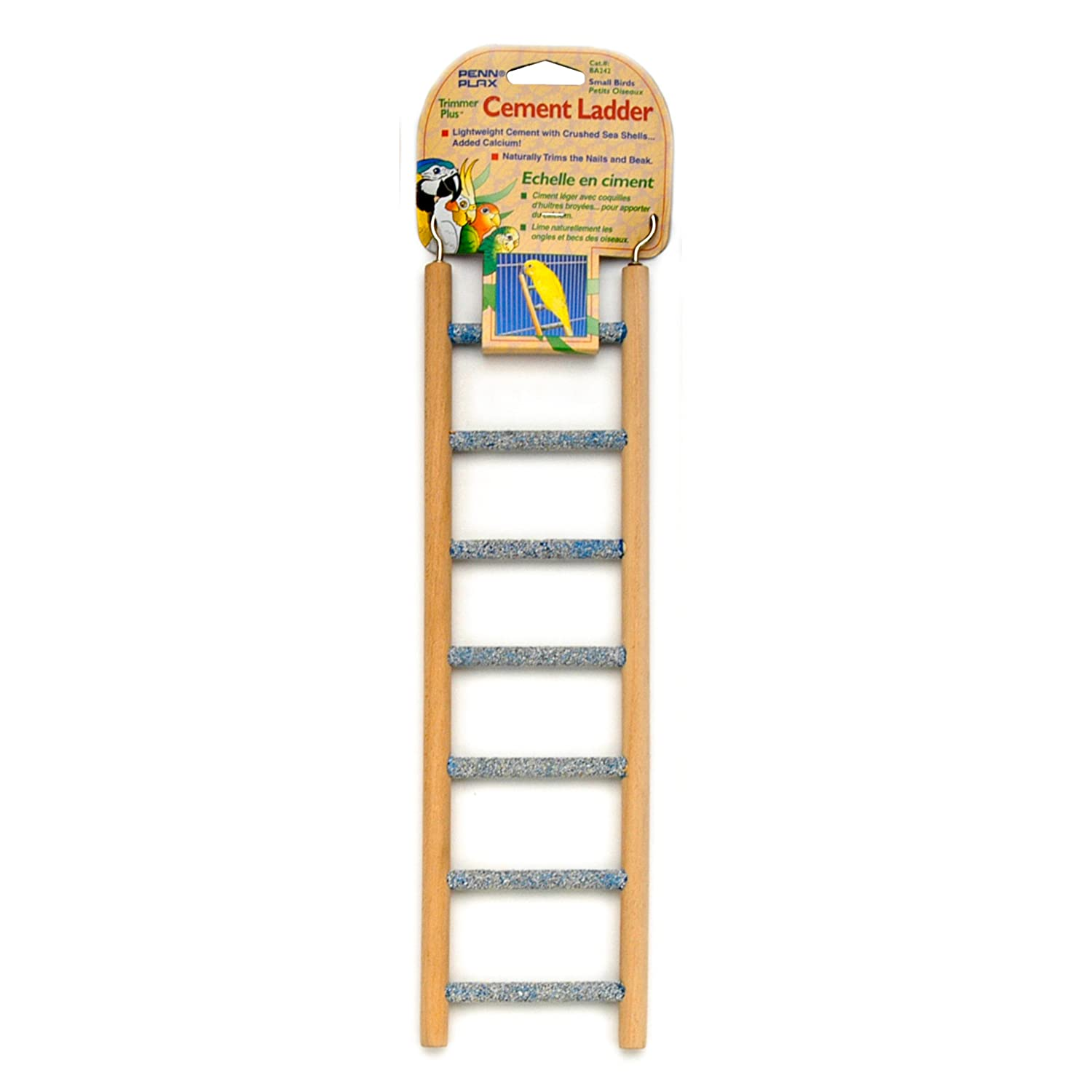 Penn Plax Small Step Wood and Cement Bird Ladder, 7-Inch INC. BA242