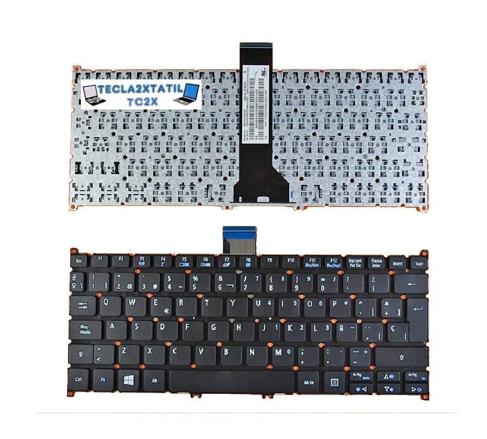 Teclado Compatible DE Y para PORTATIL Acer Aspire R 11 R3-131T-C41L EN ESPA/ÑOL Nuevo Negro SIN Marco