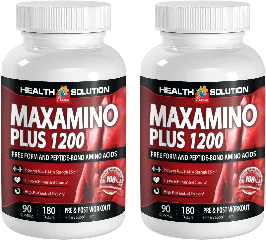 L lysine l arginine l carnitine – MAXAMINO Plus 1200 – Increase Energy 2 Bottles