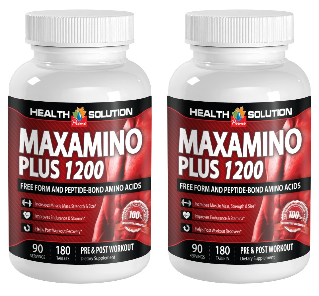 Theanine anxiety - MAXAMINO PLUS 1200 - boost the immune system (2 Bottles)