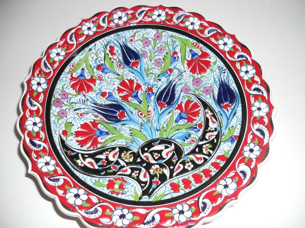 Amazon.com Handmade u0026 Hand painted pottery Turkish Plate for your Wall Arts Crafts u0026 Sewing  sc 1 st  Amazon.com & Amazon.com: Handmade u0026 Hand painted pottery Turkish Plate for your ...