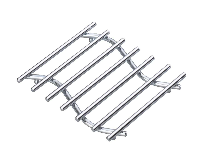 KitchenCraft Heavy-Duty Chrome-Plated Small Metal Trivet 20 x 17 cm 8 x 6.5
