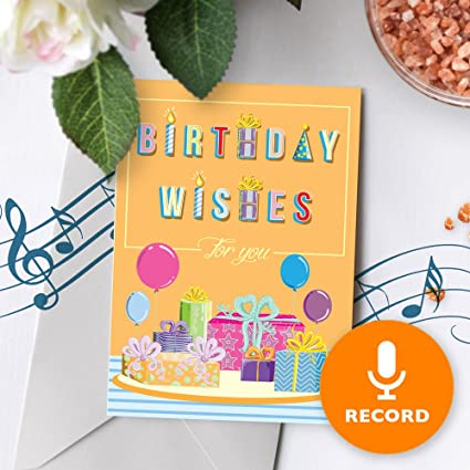 Birthday Wishes Greeting Card With Music