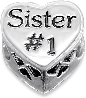 charm pandora cuore di sorella