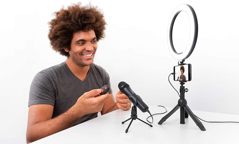 iRig Video Creator HD Bundle - professionelles Video & Streaming Kit für  Smartphones (HD USB Handheld-Kondensatormikrofon, 9 bit Wandler,