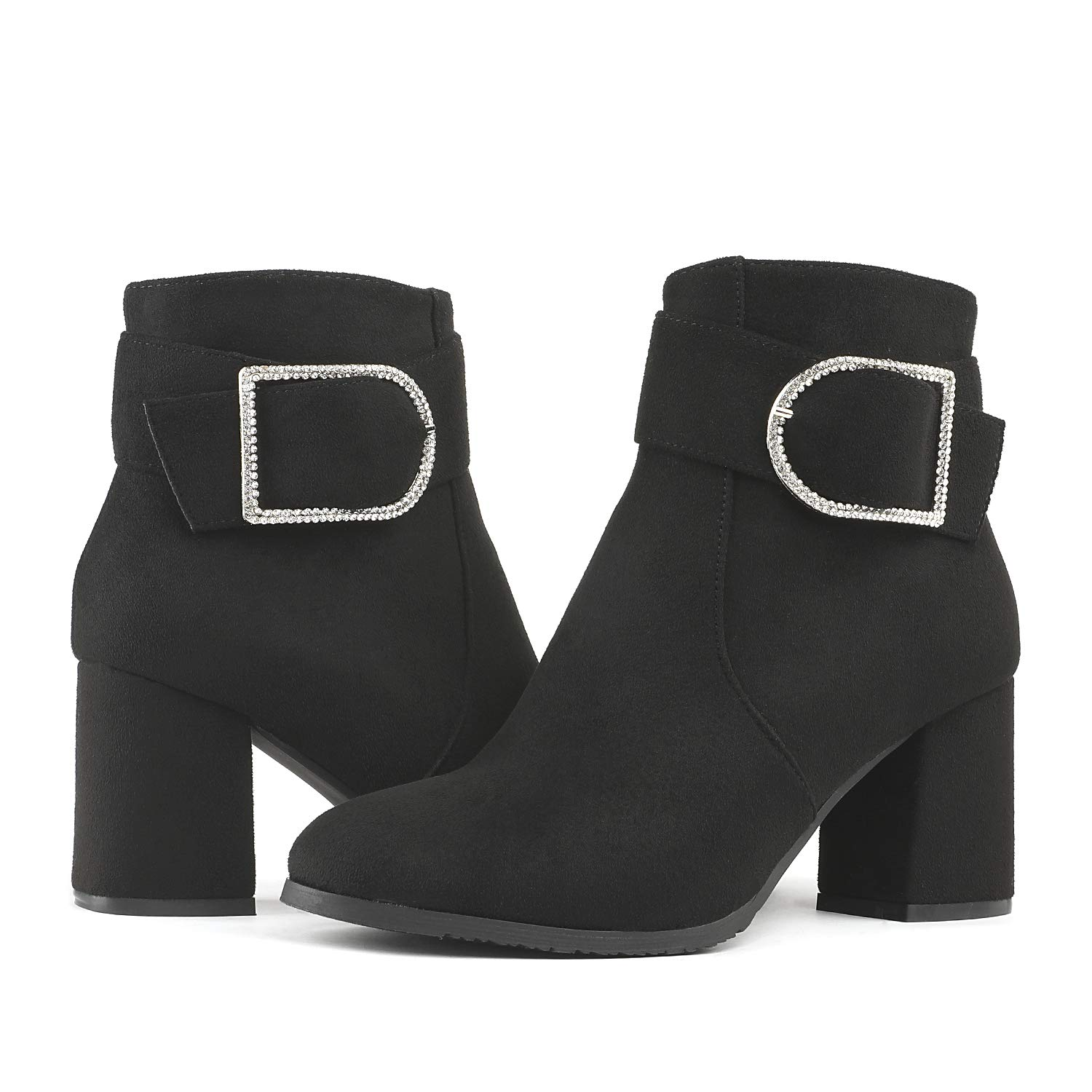 83c073570a68c Amazon.com   DREAM PAIRS Women's Chunky Heel Ankle Booties   Ankle & Bootie