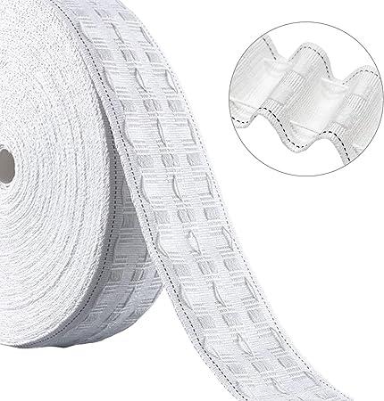 """NEW 2/"""" Inch 50mm White Curtain Heading Header Tape 5 Metres UK SELLER"""