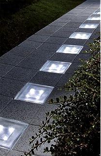 Beautiful Solar Beleuchteter LED Pflasterstein Aus Glas Zur Wegbeleuchtung