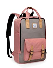 Backpack for Teen Girls,VASCHY Vintage 15in Laptop Backpack Water-Resistant School Backpack Pink