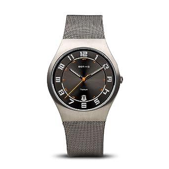 Bering Classic - Reloj analógico de caballero de cuarzo con correa de acero inoxidable plateada - sumergible a 50 metros: Amazon.es: Relojes