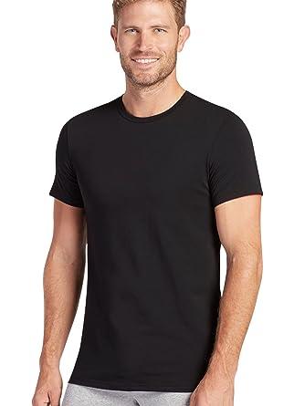 bfb1f4fc33d0 Jockey Men's T-Shirts Slim Fit Cotton Stretch Crew Neck - 2 Pack, Black