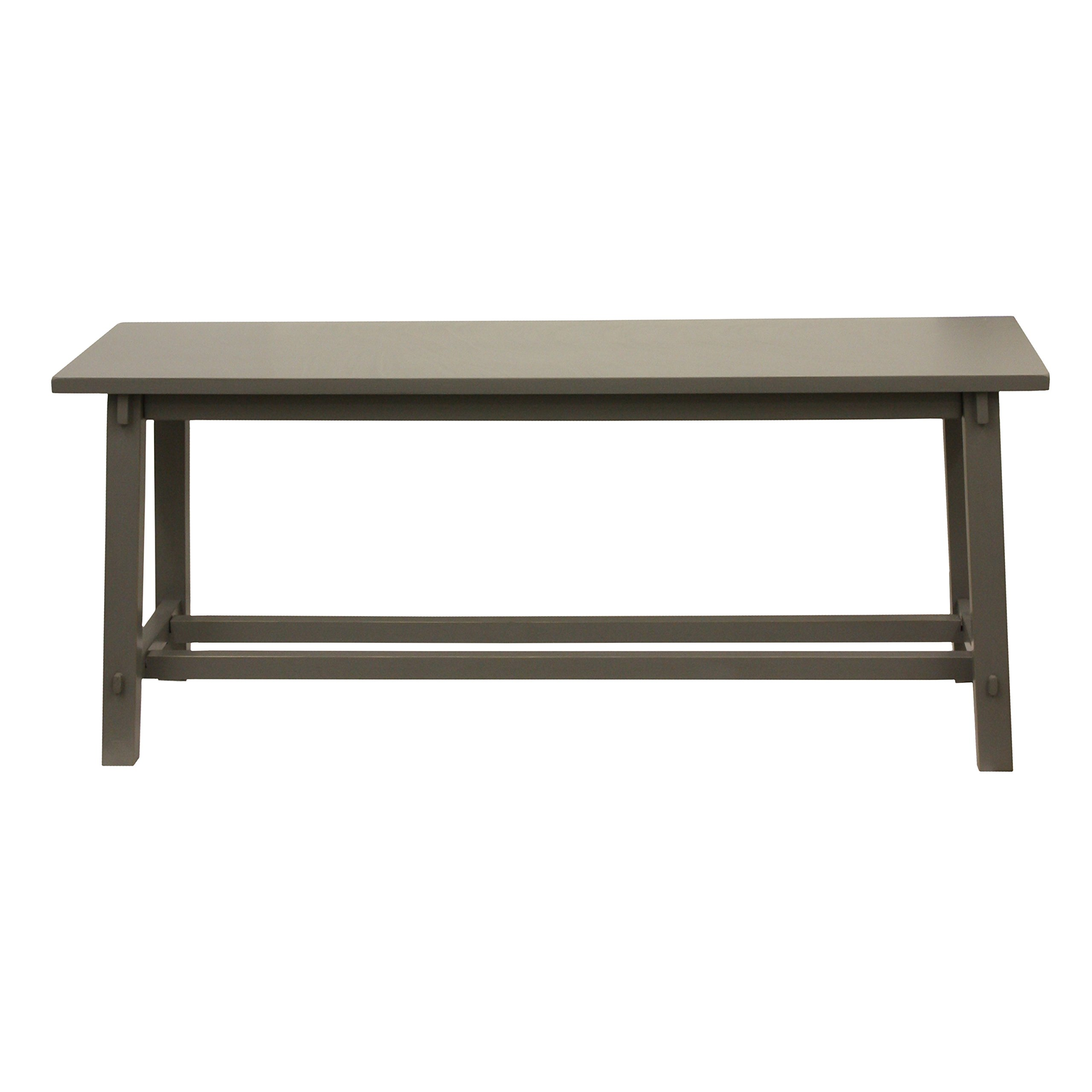 Décor Therapy FR1869 Eased Edge Bench, Grey
