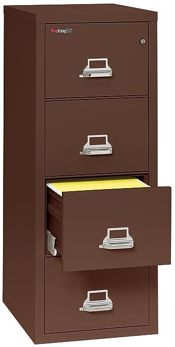 Amazon.com : Fireking Fireproof Vertical File Cabinet (4 Legal Sized  Drawers, Impact Resistant, Waterproof), 52 .75