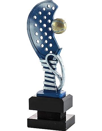 Art-Trophies TP445 Trofeo Deportivo Raqueta Pádel, Azul, 28 ...