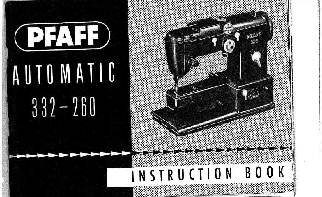 Descargar Pdf-File Pfaff 322-260 Manual de usuario máquina de ...
