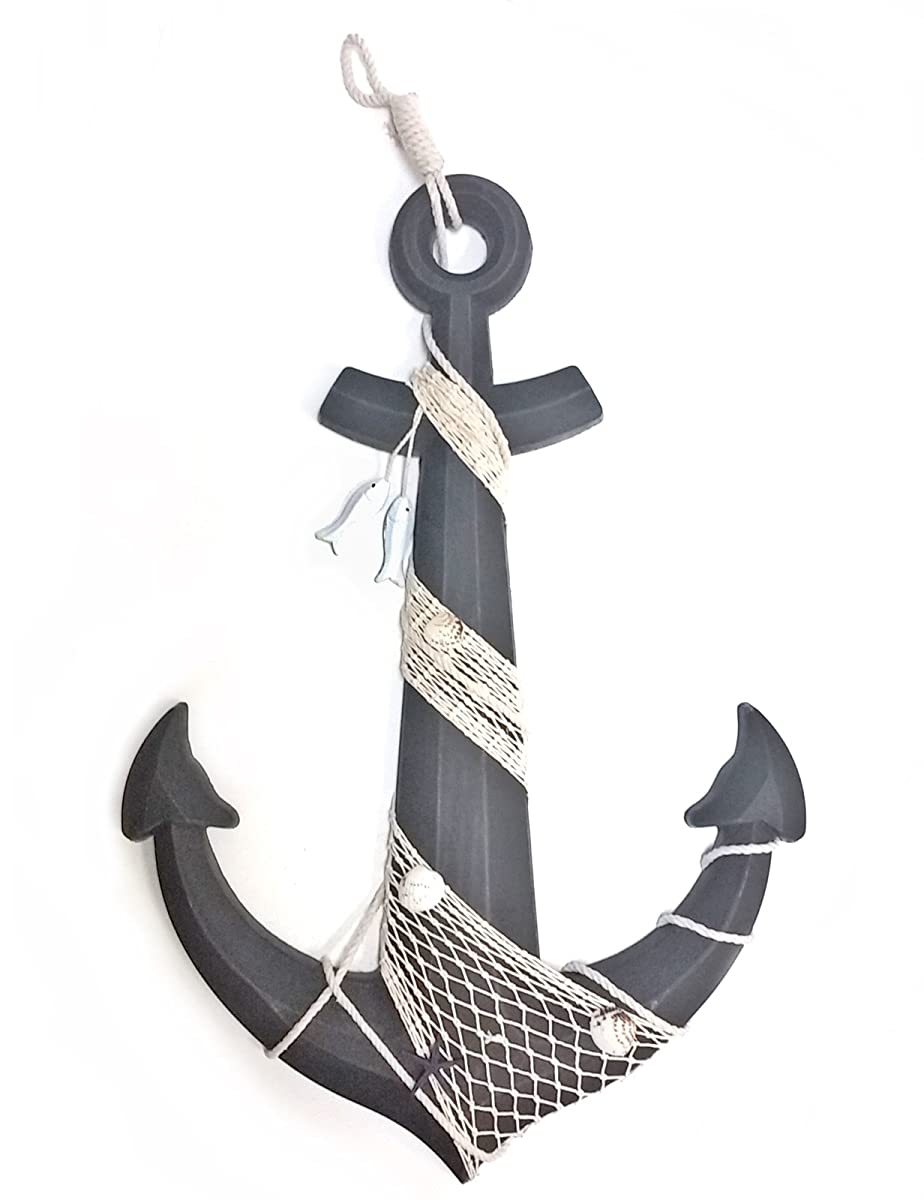 """24"""" Wooden Boat Anchor with Crossbar"""