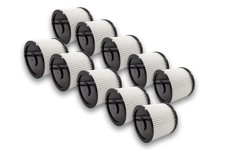 vhbw 5x Filtri rotondi per aspirapolvere multiuso Aqua Vac 5000 Plus, 6200 Bulldog, 62005, 63007, 73042, 73007, 73021, 73031, 74038 VHBW4251574622662