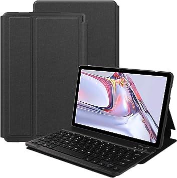 VOVIPO Funda Teclado Español Ñ para Galaxy Tab A7 10.4 2020 Inch, Protectora Cover Funda con Desmontable Wireless Teclado Galaxy Tab A7 10.4 2020 ...
