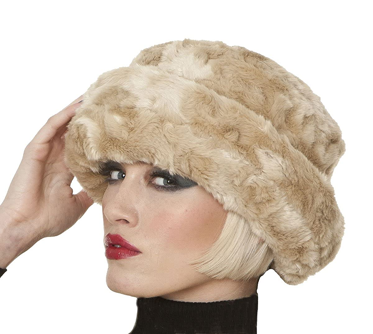 Socks Uwear Womens Luxury Faux Fur Cloche Warm Winter Thermal Hat Flo Champagne LHATFlo-Cloche-Champagne Flo Cloche