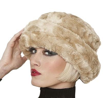 d3852c11 Socks Uwear Womens Luxury Faux Fur Cloche Warm Winter Thermal Hat Flo  Champagne: Amazon.co.uk: Clothing