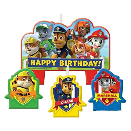 Image Unavailable Not Available For Color Paw Patrol Birthday Candles 4pcs Cupcake Cake