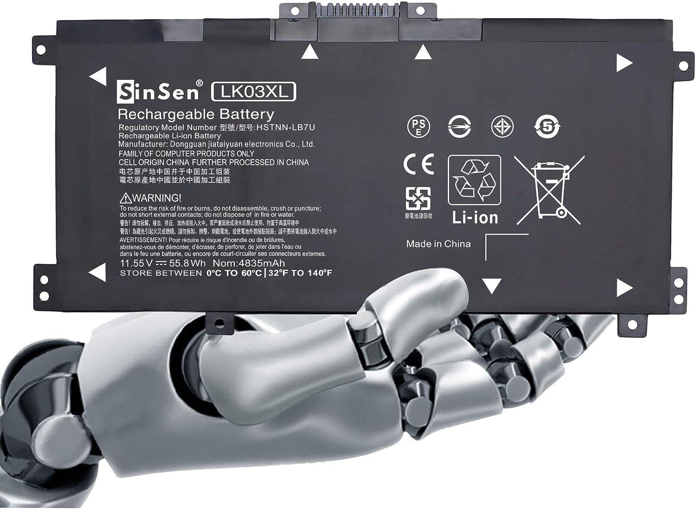 Laptop Battery for HP,LK03XL Battery HP Envy 17 17-AE143NG 17M-AE0XX 17T-AE100 CTO 2RX66AV Envy X360 15-BP000 15-BP107TX 15M-BP000 15M-BP012DX 15-BP100TX 15-BP194CL 916368-541