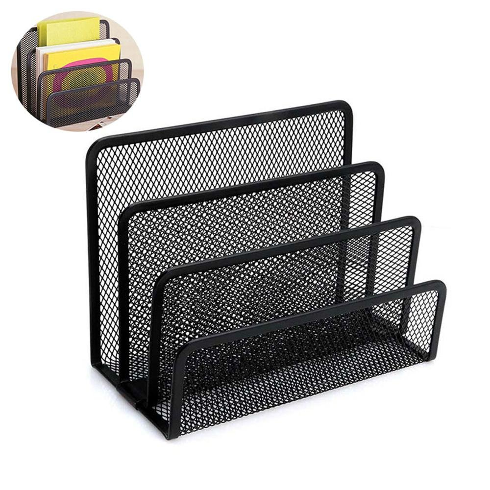 Desk Mail Organizer Metal Desk File Sorter Mesh Desktop Vertical