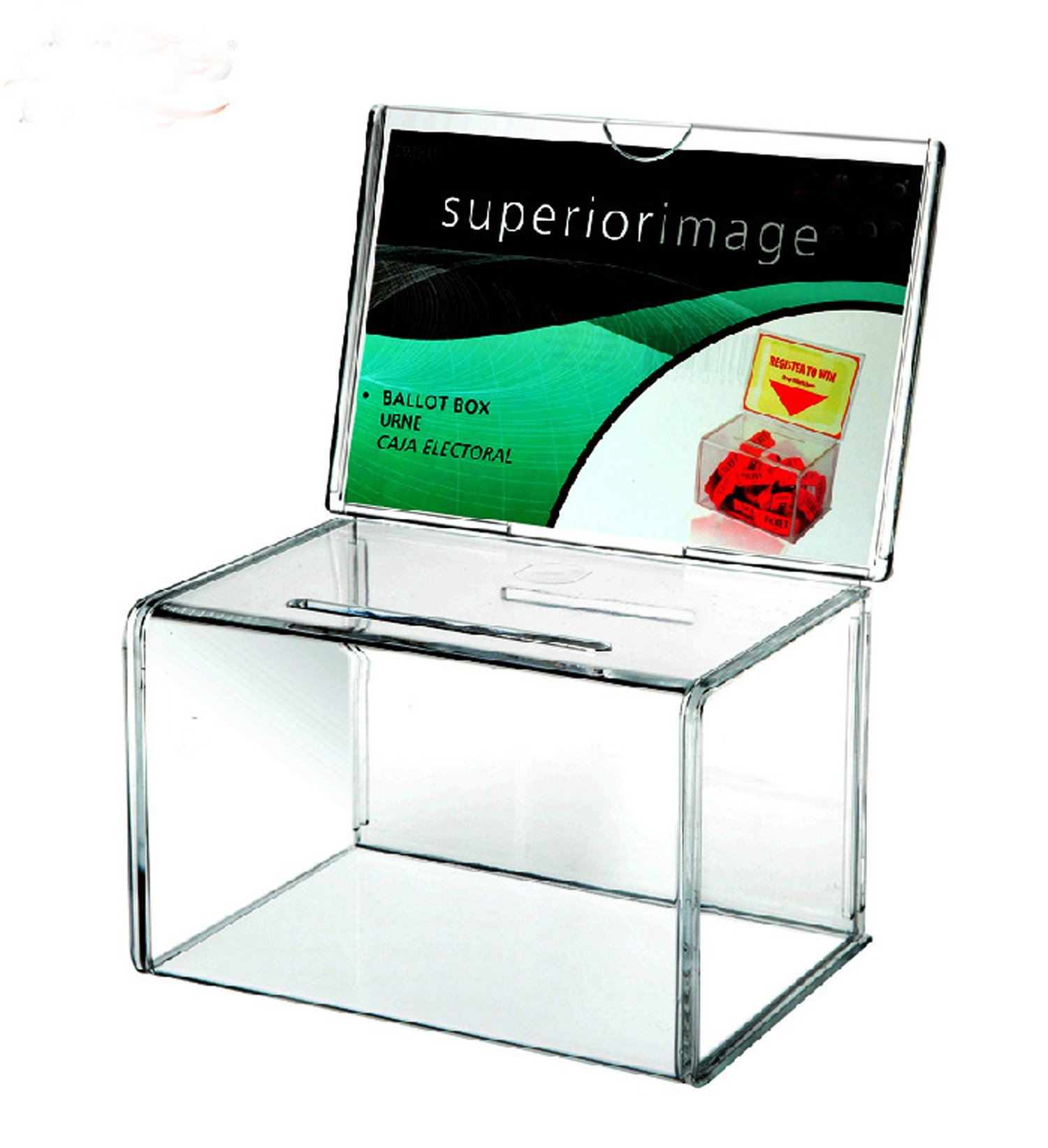 Countertop Acrylic Entry Boxes Without Keylock for Raffle,Ballot,Comments and Suggestion