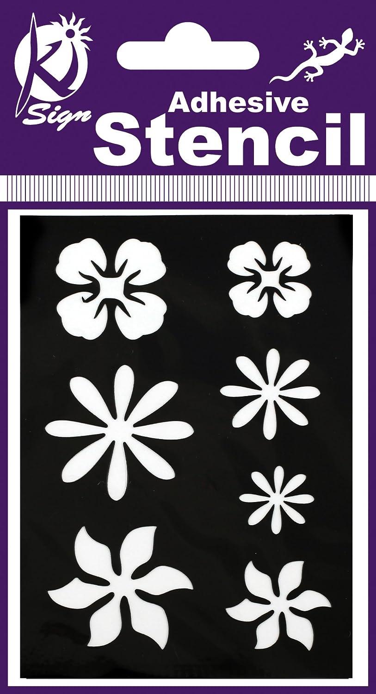 Ki-Sign Customisation 1/x 7/x 10/cm Fleurs Pochoir