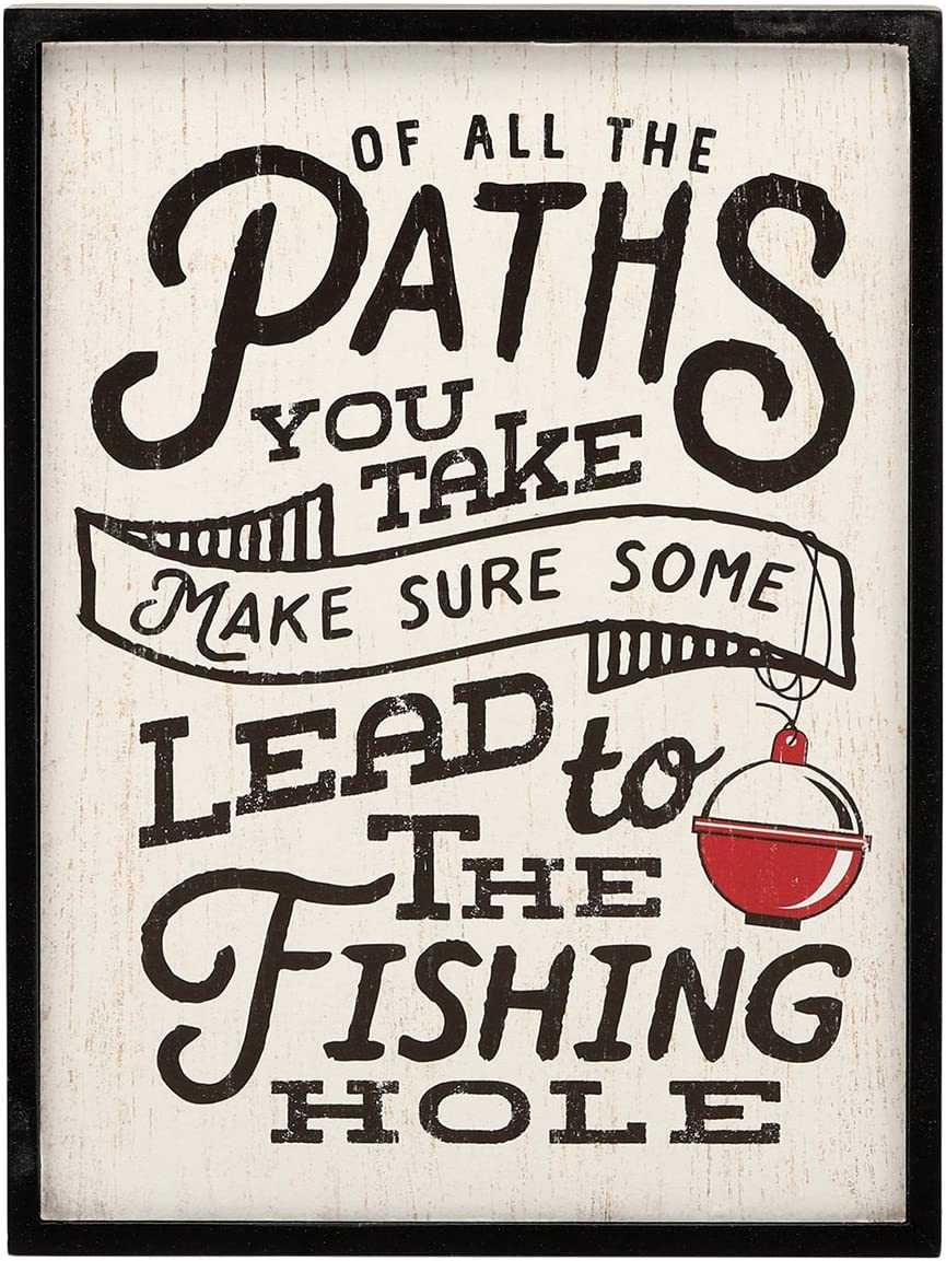 Open Road Brands Paths Lead to Fishing Framed Wall Decor