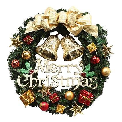 Thee Coronas Navidenas Decoracion De Navidad Papa Noel Colgante - Coronas-navidad