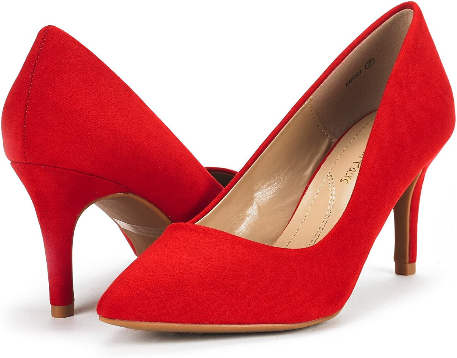 DREAM PAIRS Womens Kucci Classic Fashion Pointed Toe High Heel Dress Pumps Shoes