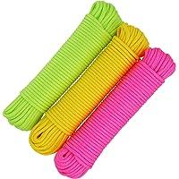 com-four® 3X 20m Cuerda Multiusos, cordón de sujeción