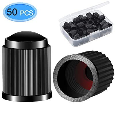 MENOLY Tire Valve Caps Black (50 Pack), Universal Stem Covers for Cars, Bicycle, SUVs, Motorbike and Trucks: Automotive