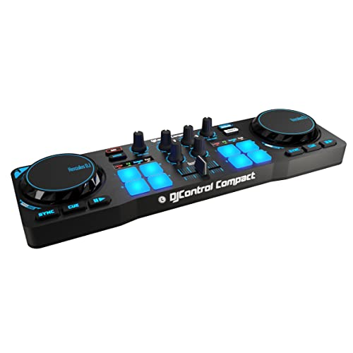Hercules DJControl Compact – Contrôleur DJ Compact et Portatif