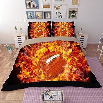 Fantastische Fire Schwarz American Football Weiches 3 Teiliges
