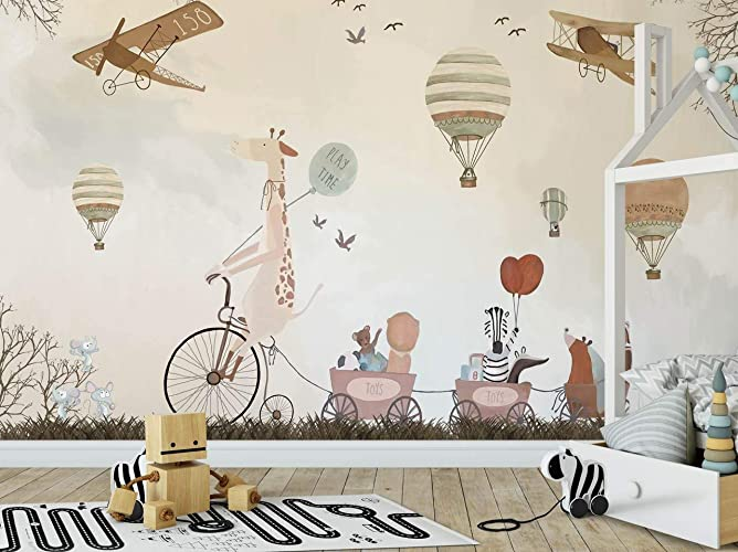 Amazon.com: Jungle Friends Nursery Wallpaper Decorative ...