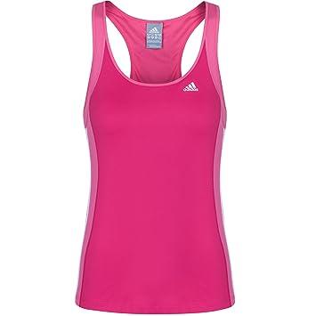 Adidas Clima Essentials - Camiseta deportiva de tirantes para, color rosa oscuro, rosa claro y blanco, tamaño 8 UK (34 EU): Amazon.es: Deportes y aire libre