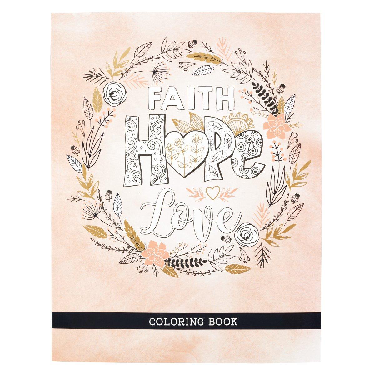 - Amazon.com: Faith Hope Love Coloring Book (9781432127329