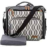 Lekebaby Convertible Diaper Bag Backpack for Mom with Waterproof Pocket, Grey