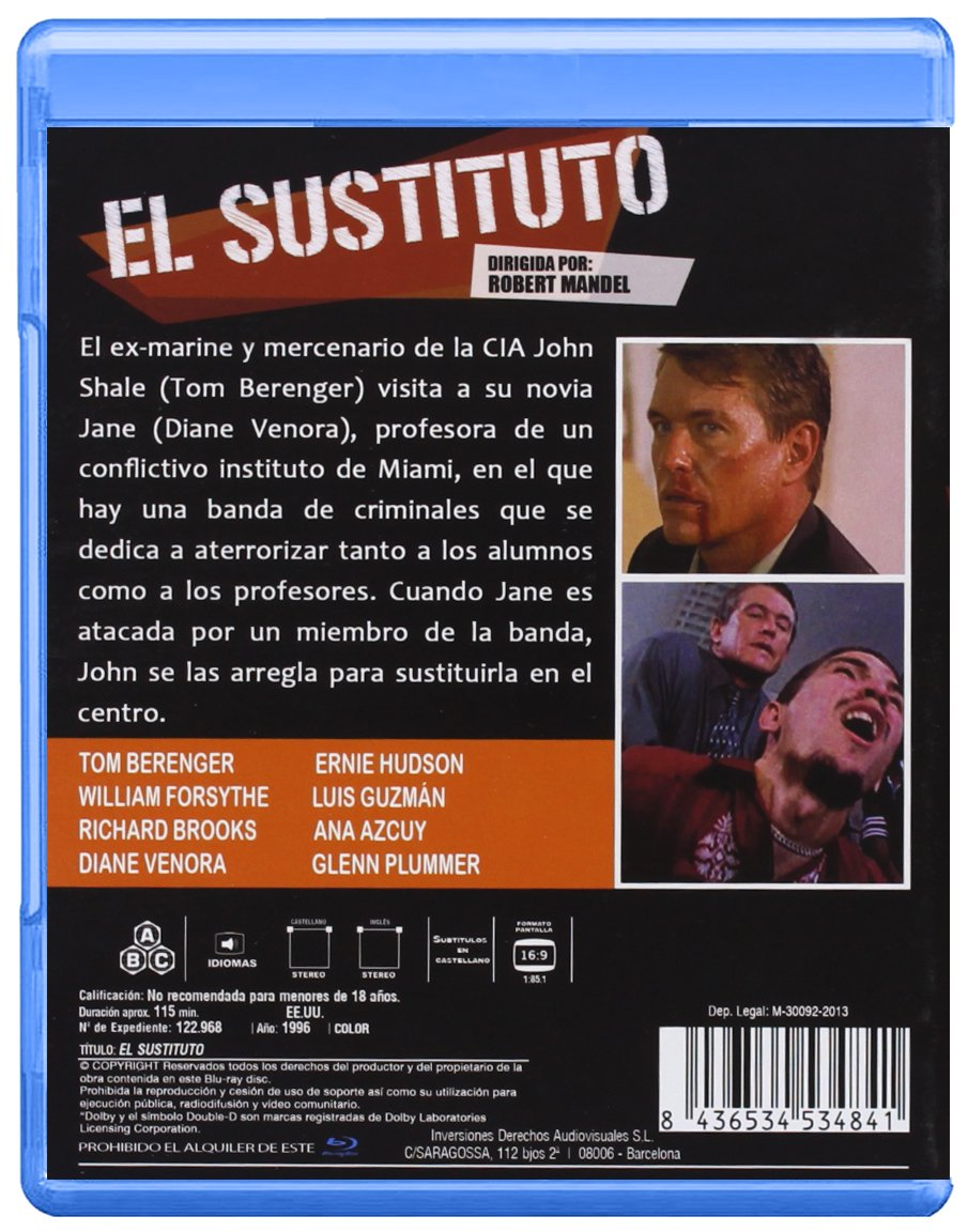 Amazon.com: El Sustituto (Blu-Ray) (Import Movie) (European ...