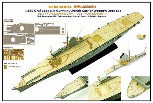 インフィニモデル 1/350 ドイツ海軍 空母 グラーフ・ツェッペリン用 TR社用 艦船用木製甲板 プラモデル用パーツ IMW3506