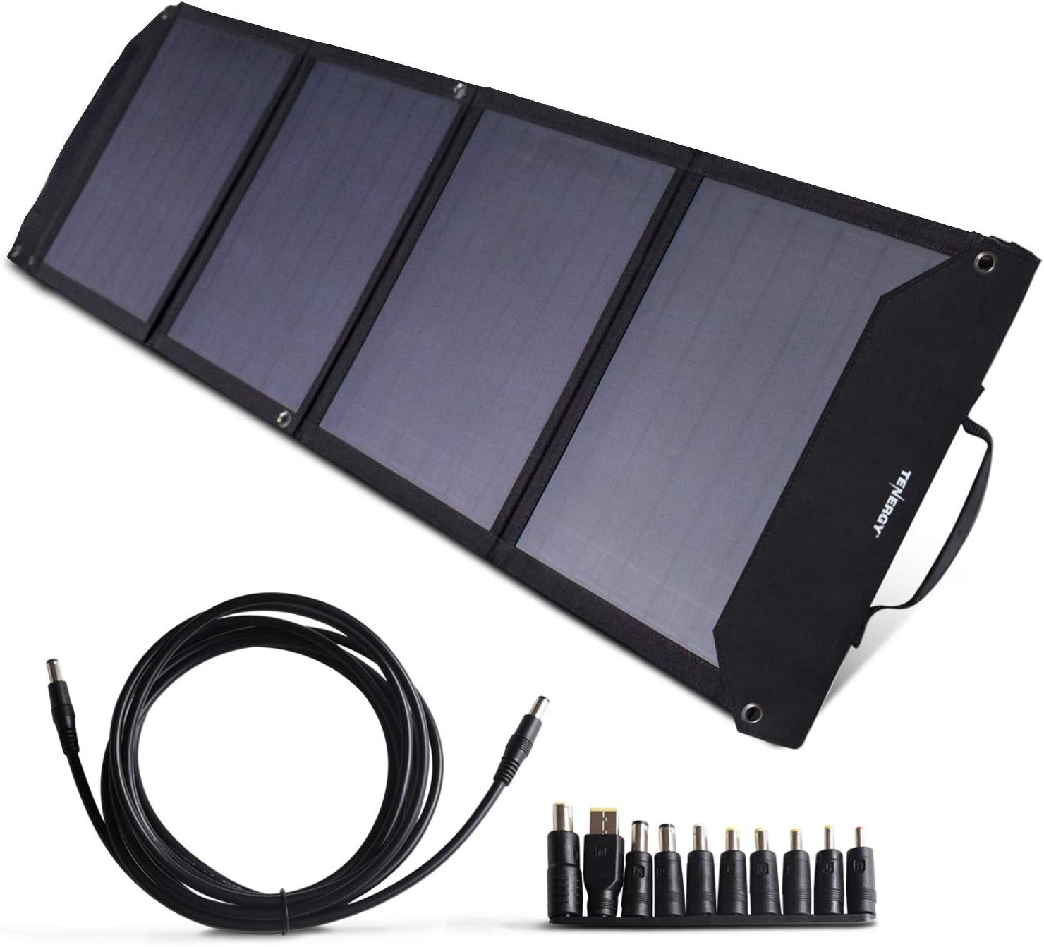 60W 18V Foldable Folding Dual USB Solar Panel Battery Charger Phone Car