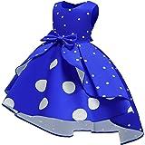NSSMWTTC 2-9Y Flower Girls Wedding Pageant Dresses Toddler Formal Party Midi Dress