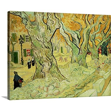 Vincent Van Gogh Solid-Faced Canvas Print Wall Art Print Entitled The Road Menders, 1889 30 x24