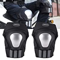 AllExtreme (BSDDP) Pair of Adults Knee Armor Protection Guard Motorcycle/Bike Cycling Knee Pads Protector Protective Gear Knee Protection equipment for Motorcycle Racing Bike Riding Skating Outdoors Sports (Set of 2)