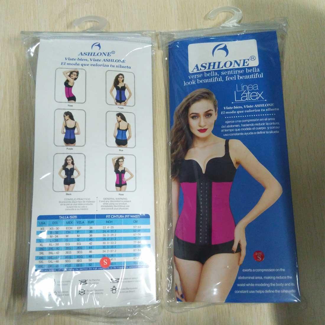 ashlone - látex cintura Shaper faja entrenamiento 9 acero huesos Shapewear 3 ganchos: Amazon.es: Ropa y accesorios