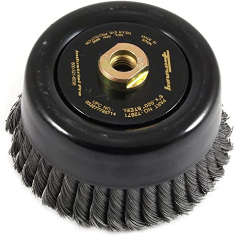 6-Inch-by Knotted with 5//8-Inch-11 Threaded Arbor Forney 72756 Wire Cup Brush